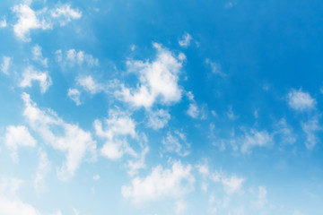Fotobehang Blauw white cloud and blue sky background