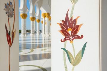 Canvas Prints Abu Dhabi Sheikh Zayed Grand Mosque in Abu Dhabi, United Arab Emirates.