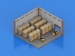 Warehouse interior isometric