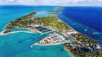 Fototapeta Aerial View Of Island