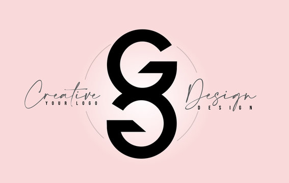 GG Letter Design Icon Logo with Letters one on top of each other Vector.