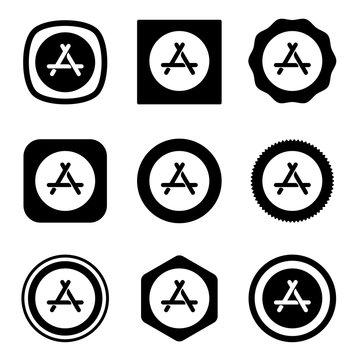 appstore icon . web icon set .vector illustration