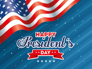 Flag design, Usa happy presidents day united states america independence nation us country and national theme Vector illustration