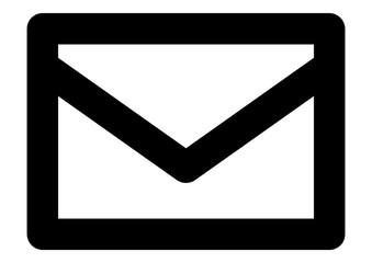 gz705 GrafikZeichnung -  german - E-Mail / Kontakt Symbol. - english - business newsletter, email marketing / message envelope icon. - contact us - simple line template - DIN A4 xxl g8999