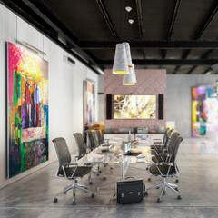 Contemporary Commercial Space Design - depht of field 3d visualization