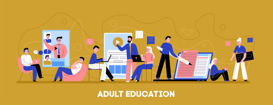 Online Adult Education Banner