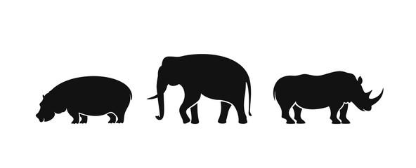 Elephant logo. Isolated elephant on white background