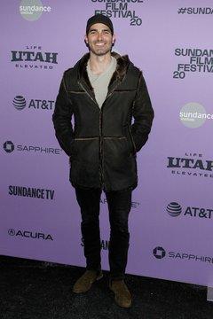 Tyler Hoechlin at arrivals for PALM SPRINGS Premiere at Sundance Film Festival 2020