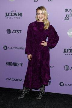 Meredith Hagner at arrivals for PALM SPRINGS Premiere at Sundance Film Festival 2020