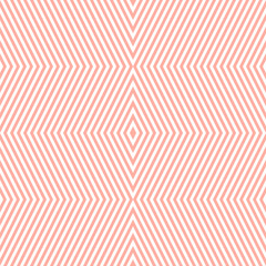 Vector geometric seamless pattern with rhombuses, stripes, thin lines, zig zag, chevron. Cute pink and white abstract striped texture. Stylish minimal background. Simple repeat design for decor, print