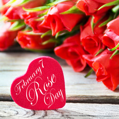 Red heart and Rose Day February 7