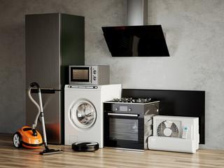 Obraz Home appliances. 3d rendering illustration - fototapety do salonu