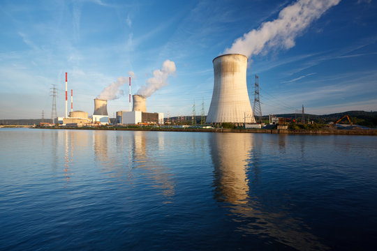 Nuclear Power Station At River, Belgium
