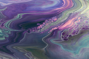 Abstract Purple Acrylic pour Liquid marble surfaces Design.