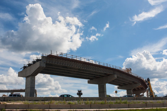 An Overpass Ramp Is Partially Constructed In Atlanta Metro Area