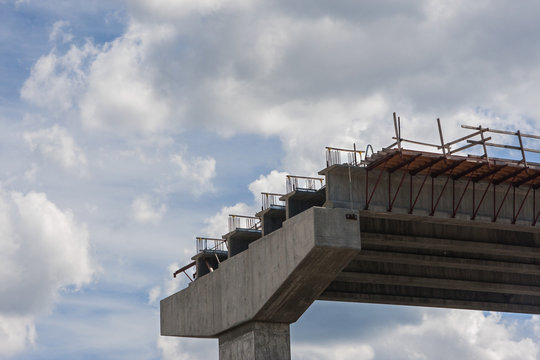 Bridge Overpass Under Construction In Metro Atlanta Area