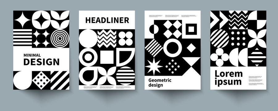 monochrone geometric poster