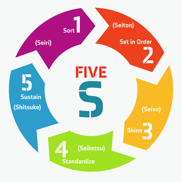 5S infographics options