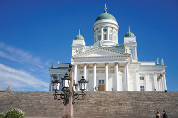 Famous white cathedral of Helsinki