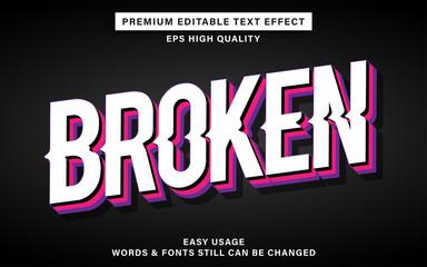 Wall Mural - Broken text effect