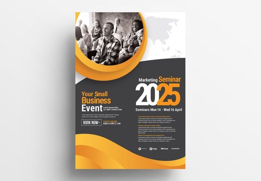 Corporate Event Poster Layout