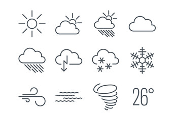 Weather Icon Set Collection
