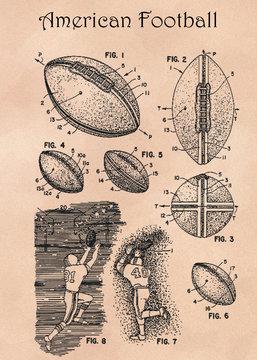 American Football patent illustrtion