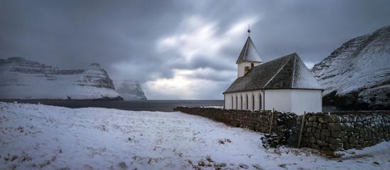 Vidareidi village church