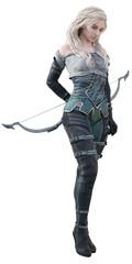 CGI Female Fantasy Archer Posing