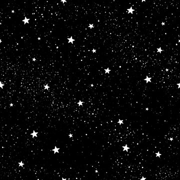 Seamless pattern with stars. Hand drawn stars texture. Night starry sky.