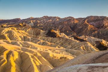 Zabriskie Point at sunset, Death Valley National Park, California, USA