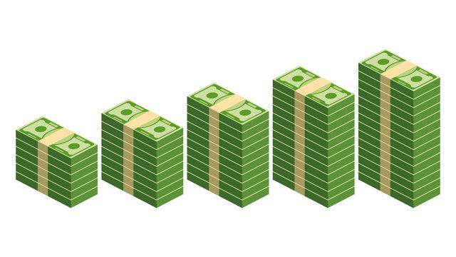 Paper money in ascending order