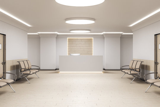 Modern waiting room in medical office