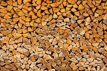Wall Murals Firewood texture stacked firewood timber texture pattern