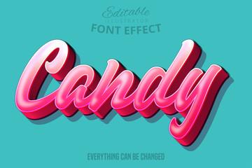 Candy text, editable font effect Fototapete
