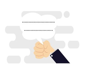 communications concept flat design ,chat bubble icon