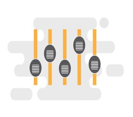 Analog audio mixer, vector illustration