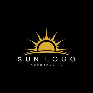 Sun logo design vector template Icon symbol Illustration