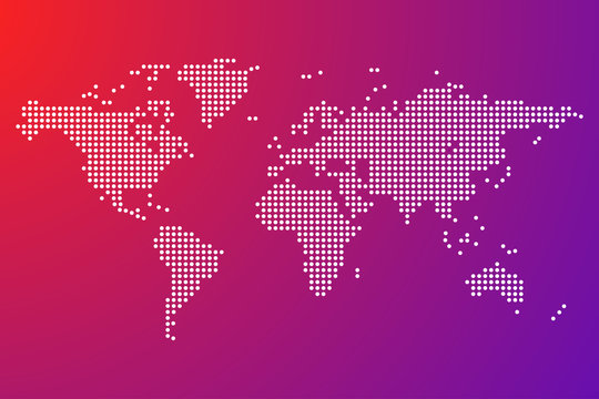 world map dots isolated modern design vector