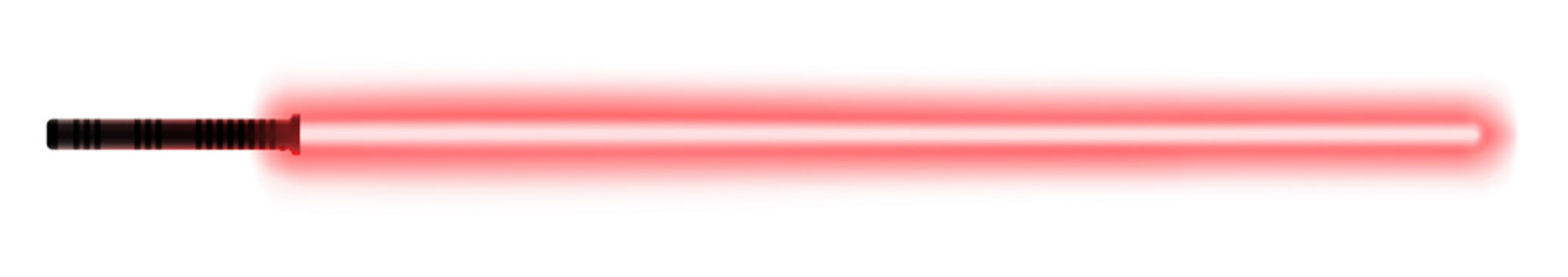 Glowing light sword. Laser saber melee weapon for taking a close fights during a war among the stars.