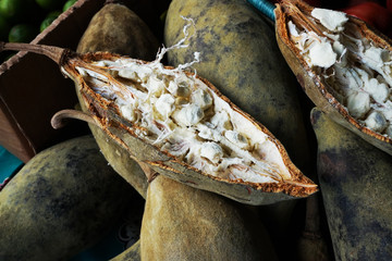 Fotorollo Baobab open baobab fruit