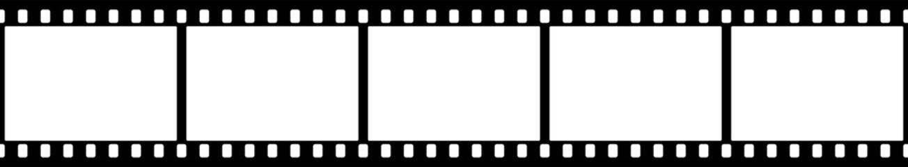 Black and white camera film template. Vector illustration.