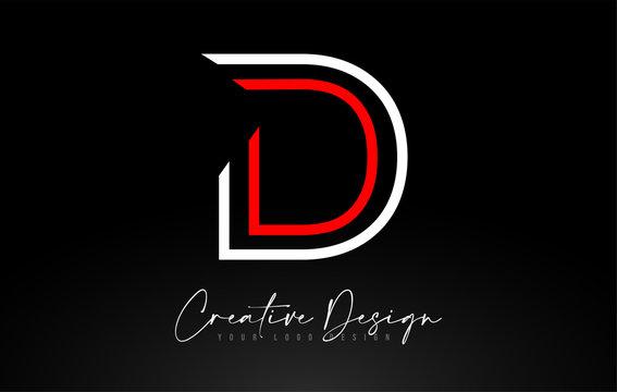 Monogram D Letter Logo design with Creative Lines Icon Design Vector.