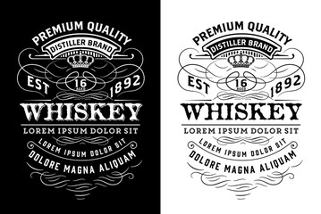 Western label for whiskey or other products. Vector layered Wall mural
