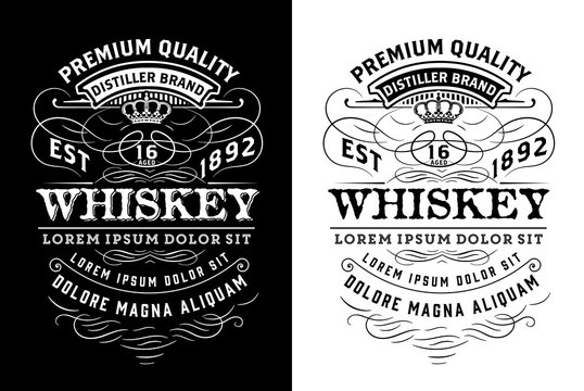 Western label for whiskey or other products. Vector layered