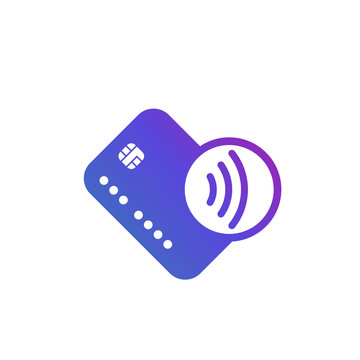 Contactless card payments, tap to pay icon