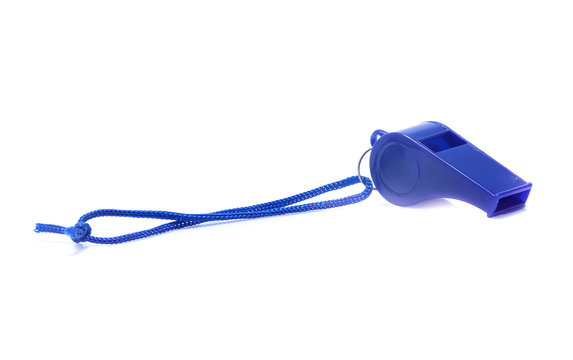 sport whistle isolated on white background