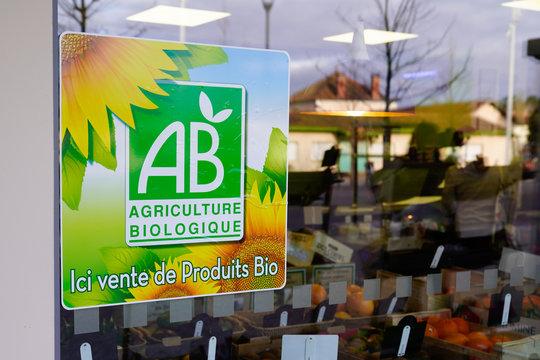 ab Agriculture shop Street Sign logo biological store