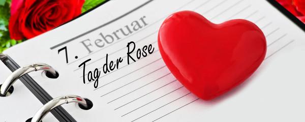 Calendar and German: Rose Day February 7