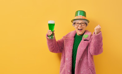 woman in leprechaun hat
